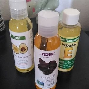 Jojoba avocado vitamin E oils